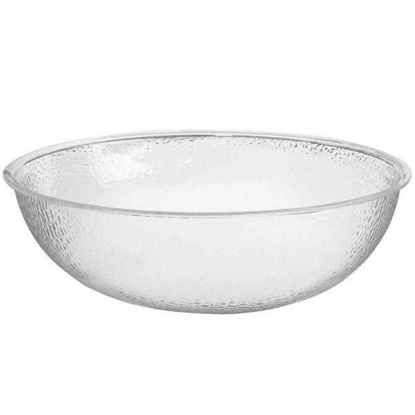 "Cal-Mil 401-24-34 23 1/2"" Clear Acrylic Pebble Salad Bowl"