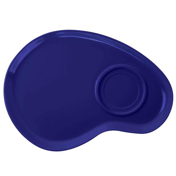 "GET PP-976-CB Let's Party Cobalt Blue 12"" Palette Plate - 12/Pack"