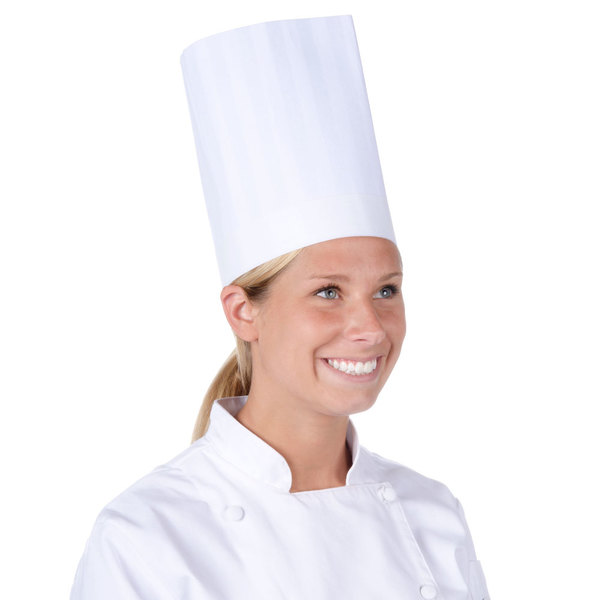 "Chef Revival 9"" Classic Travel Chef Toque Hat with Adjustable Head Band Main Image 1"