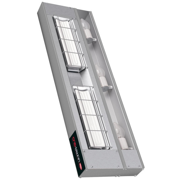"Hatco UGAHL-24 Ultra-Glo 24"" High Watt Ceramic Infrared Strip Warmer with Lights and Remote Controls - 120/208V, 870W"
