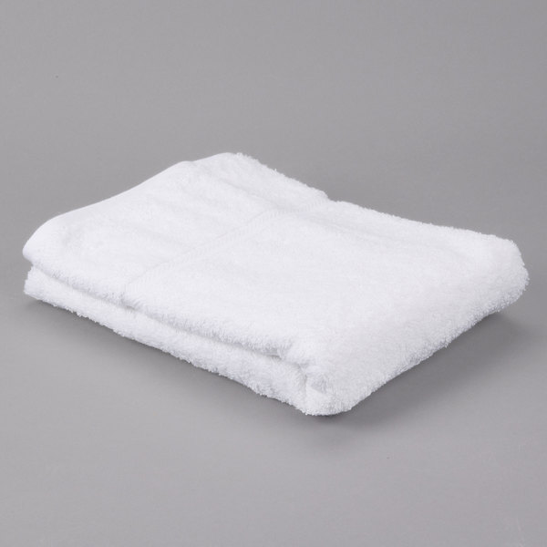 "Pack of 12 Hotel Bath Towel - Gold 27"" x 54"" 86/14 Cotton / Poly 17 lb."