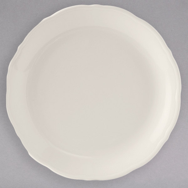 "Tuxton SEA-112 Seabreeze 11 1/4"" Eggshell China Plate - 12/Case Main Image 1"