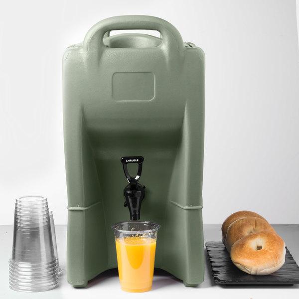 Carlisle IT25062 Cateraide™ IT 2.5 Gallon Olive Insulated Beverage Dispenser