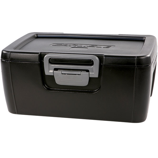 "Carlisle IT18003 Onyx Black 8"" Deep Top Loading Insulated Food Pan Carrier"