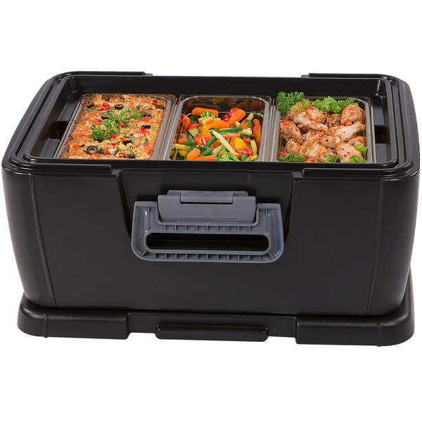 """Carlisle IT18003 Cateraide™ IT Onyx Black Top Loading 8"""" Deep Insulated Food Pan Carrier Main Image 3"""
