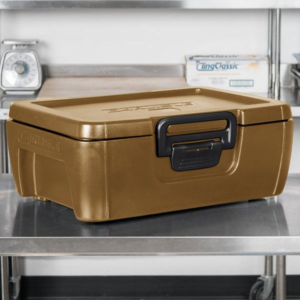 "Carlisle IT16043 Caramel 6"" Deep Top Loading Insulated Food Pan Carrier"