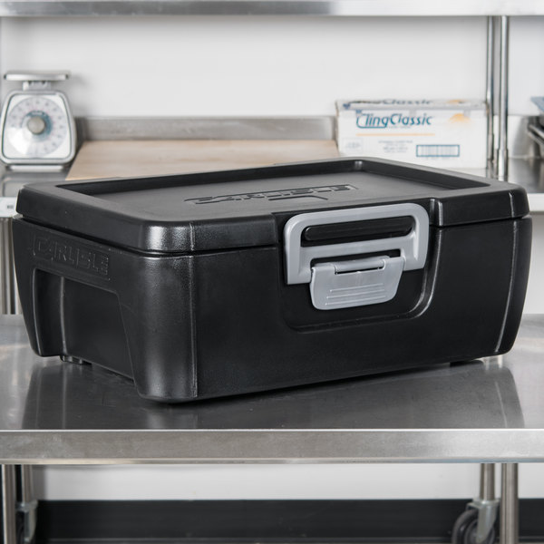 "Carlisle IT16003 Onyx Black 6"" Deep Top Loading Insulated Food Pan Carrier"