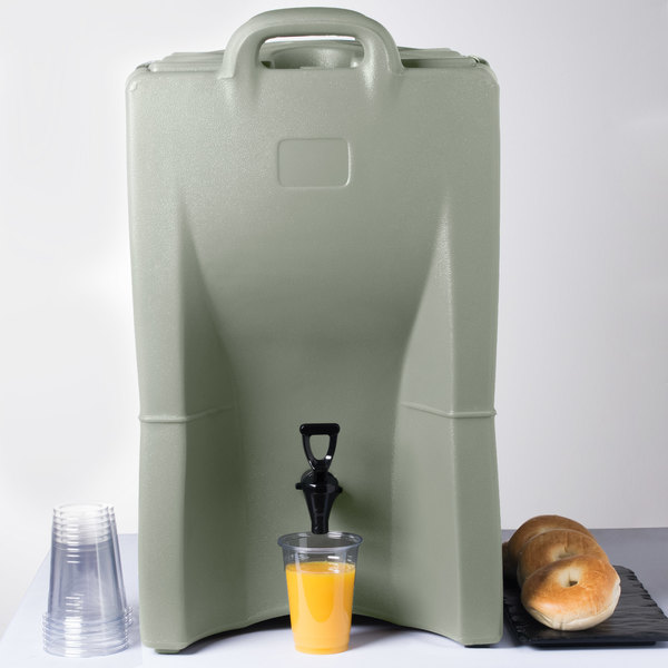 Carlisle IT100062 Cateraide™ IT 10 Gallon Olive Insulated Beverage Dispenser