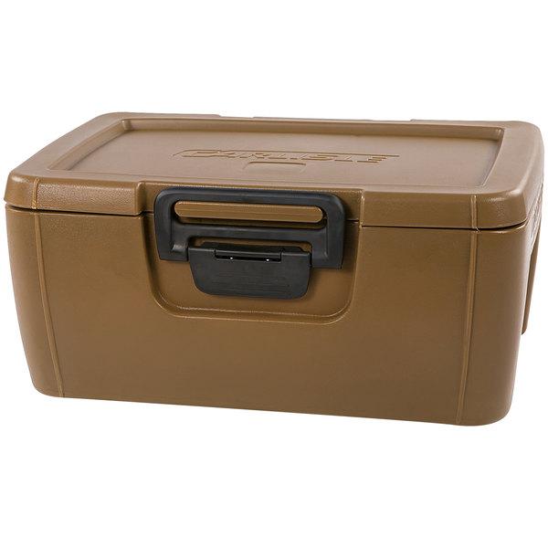 "Carlisle IT18043 Caramel 8"" Deep Top Loading Insulated Food Pan Carrier"