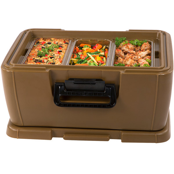 """Carlisle IT18043 Cateraide™ IT Caramel Top Loading 8"""" Deep Insulated Food Pan Carrier Main Image 3"""