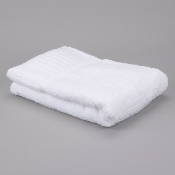 "Oxford Signature 27"" x 50"" 100% 2 Ply Cotton Bath Towel 14 lb. - 36/Case Main Image 1"