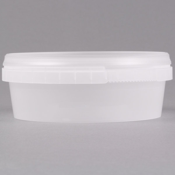 8 Oz Clear Tamper Evident Safe Lock Deli Container With Lid 50case
