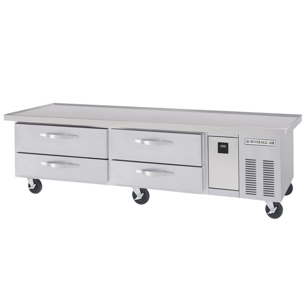 """Beverage-Air WTRCS84D-1-89 89"""" Four Drawer Refrigerated Chef Base Main Image 1"""