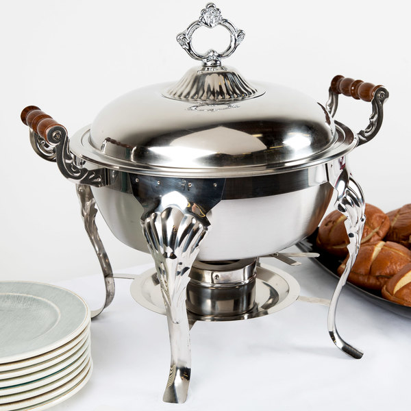 Choice Classic 5 Qt. Half Size Round Chafer