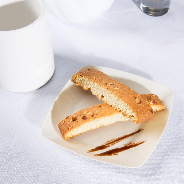"Fineline Renaissance 1506-BO 5 1/2"" Bone / Ivory Customizable Plastic Dessert Plate - 120/Case"