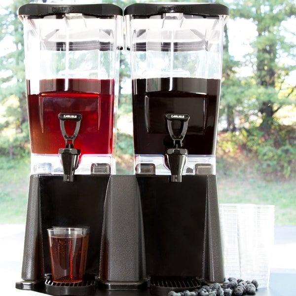 Carlisle 1085103 TrimLine 3 Gallon Black Double Premium Beverage / Juice Dispenser