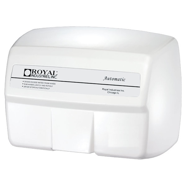 Royal 2200 White Cast Aluminum Automatic Hand Dryer - 2200W