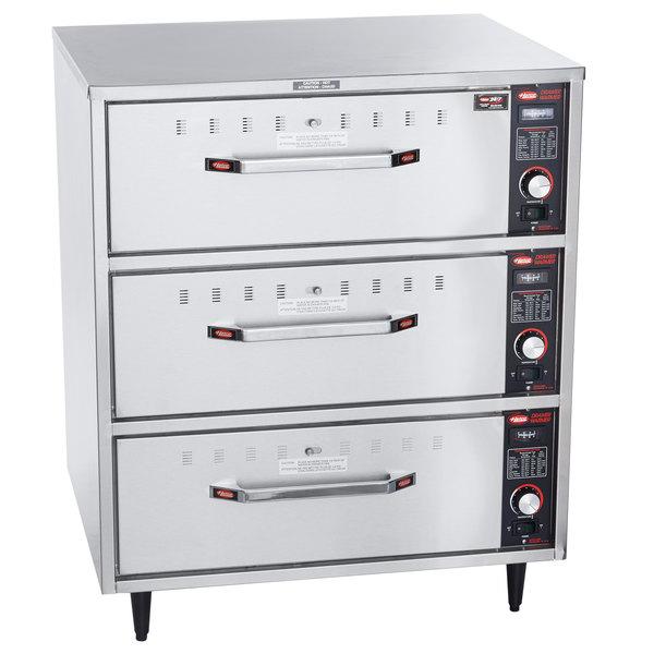 Hatco HDW-3 Freestanding Three Drawer Warmer - 240V, 1350W Main Image 1