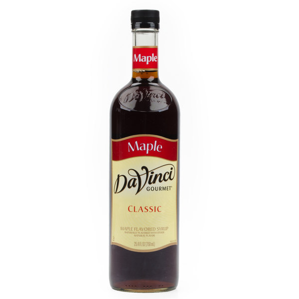 DaVinci Gourmet 750 mL Classic Maple Flavoring Syrup