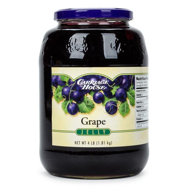 Grape Jelly 4 lb. Glass Jar - 6/Case