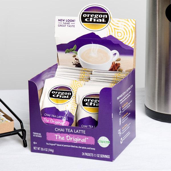 Oregon Chai 24 ct. Single Serve Packets Original Chai Dry Mix Main Image 7
