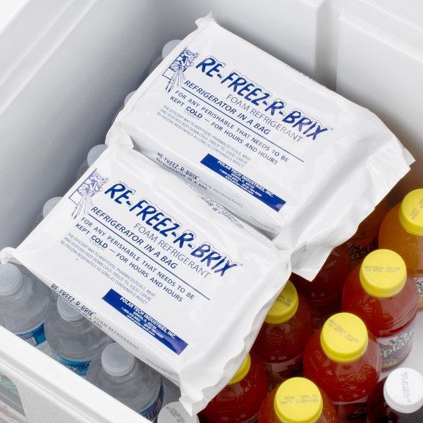 Polar Tech 28 oz. Re-Freez-R-Brix Foam Freeze Pack - 12/Case