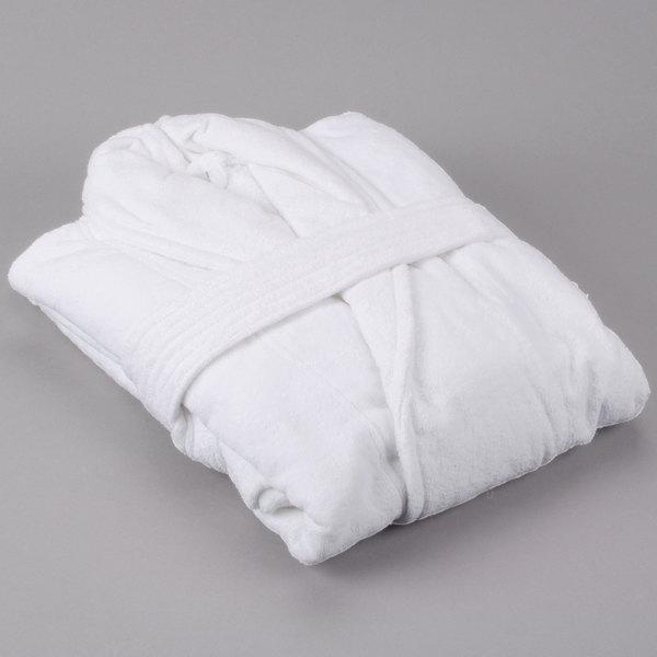 Oxford Velour Shawl Collar Bath Robe - 12/Pack Main Image 1