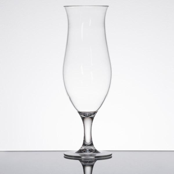 16 oz. Plastic Hurricane Glass - 24/Case