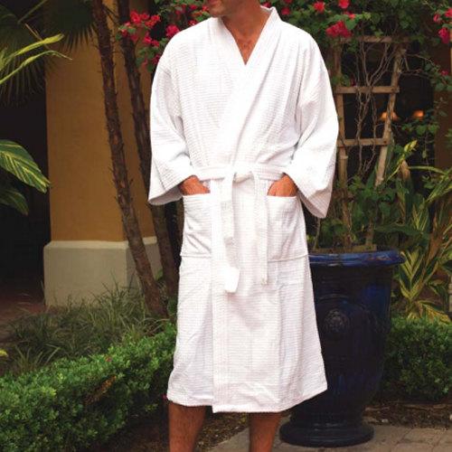 Hotel Kimono Style Bath Robe - Honeycomb Waffle Weave Imperiale 48