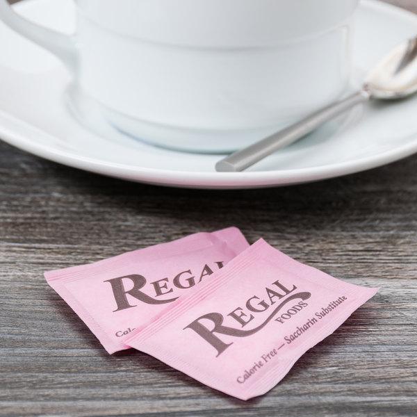Regal Foods 1 Gram Pink Sugar Substitute Packet - 2000/Case