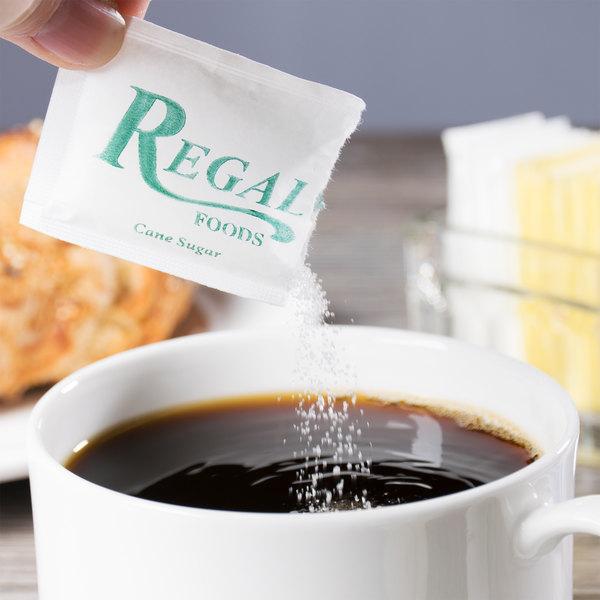 Regal Foods 2.8 Gram Sugar Packet - 2000/Case