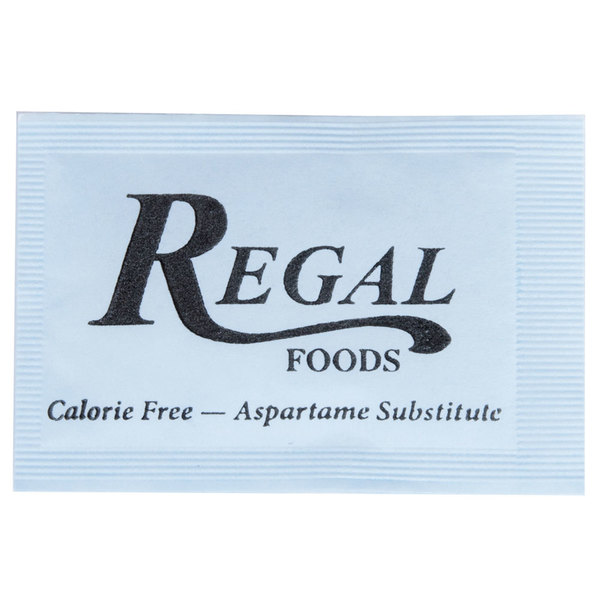 Regal Foods 1 Gram Blue Sugar Substitute Packet - 2000/Case