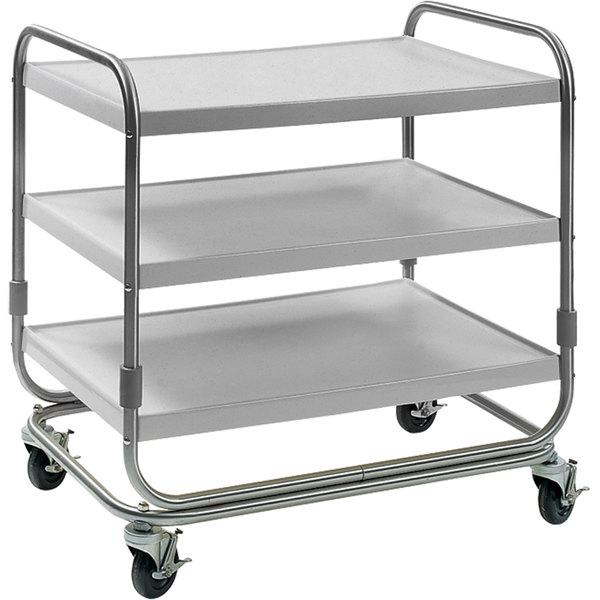 "Delfield UC-3SS Three Shelf Stainless Steel Utility Cart - 35"" x 23"""