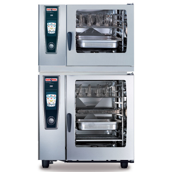 Rational 60.71.932 Stacking Kit with Feet for 62 on 102 Combi Duo Ovens Main Image 1