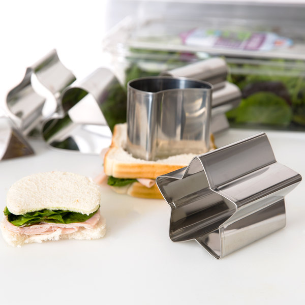 """Ateco 1428 6-Piece 3"""" Tall Stainless Steel Fancy Shaped Cutter Set (August Thomsen)"""