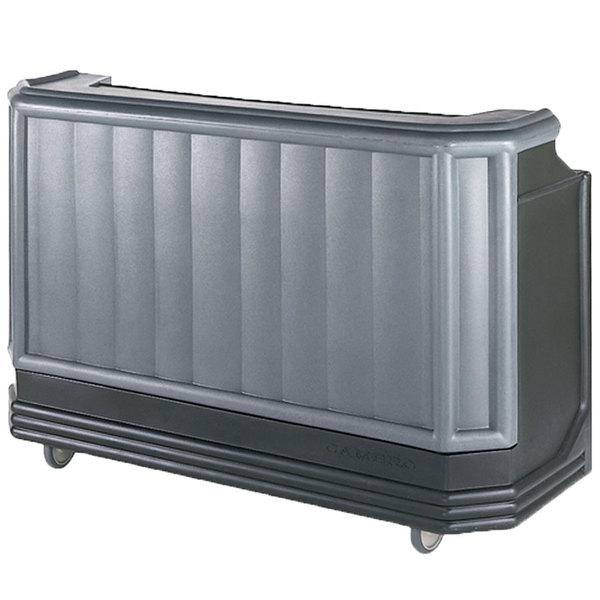 "Cambro BAR730420 Granite Gray and Black Cambar 73"" Portable Bar with 7 Bottle Speed Rail Main Image 1"