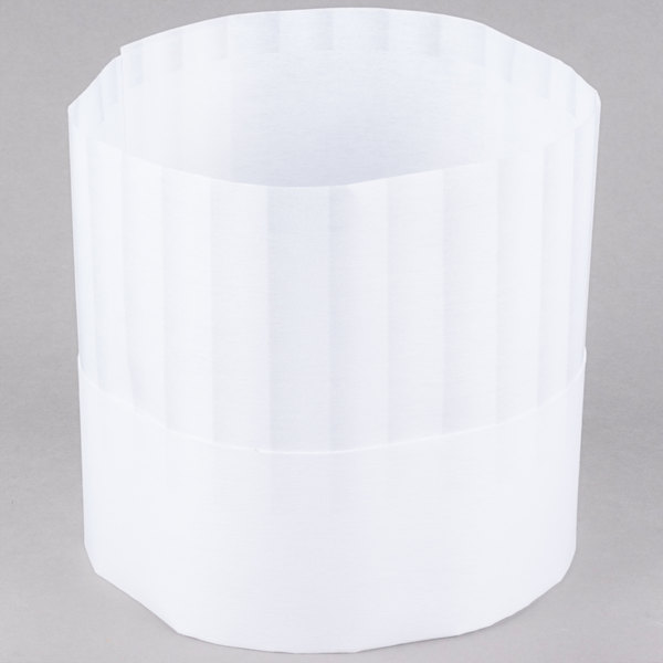 Chef Revival H048 7 inch Pinstripe Chef Hat with Adhesive Closure - 50 / Pack