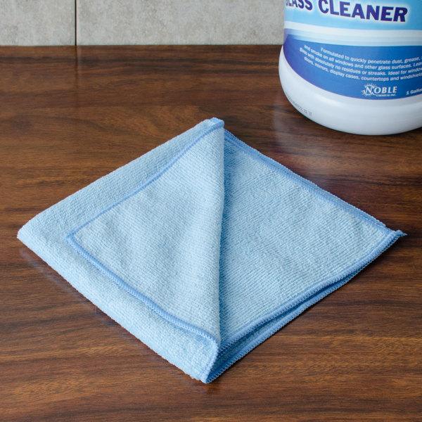 "Chef Revival MF100BL 16"" x 16"" Blue Microfiber Towel - 6/Pack"