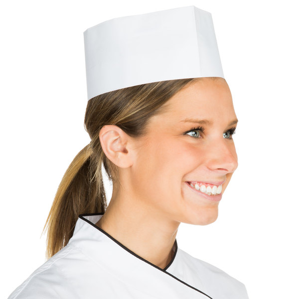 Chef Revival Adjustable Paper Overseas Cap - 100/Pack Main Image 1