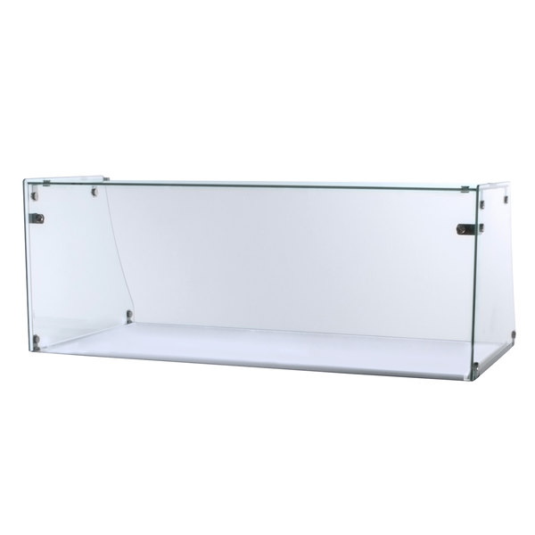 Excellence ACSG-00004 Straight Glass Sneeze Guard for EDC-8 Ice Cream Freezer Dipping Cabinet