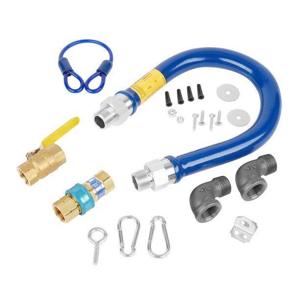 """Dormont 1675KIT24 Deluxe SnapFast® 24"""" Gas Connector Kit with Two Elbows and Restraining Cable - 3/4"""" Diameter"""