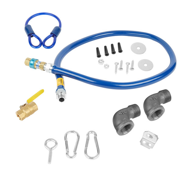 """Dormont 1675KIT72 Deluxe SnapFast® 72"""" Gas Connector Kit with Two Elbows and Restraining Cable - 3/4"""" Diameter"""