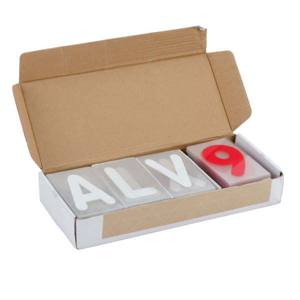 """Aarco ROCLTR-2 The Rocker 4"""" Character with White Letters and Red Numbers - 354 Characters"""
