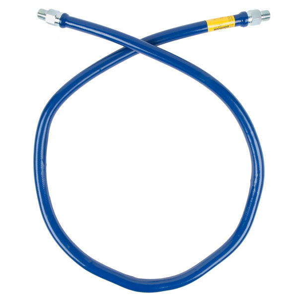 """Dormont 1650BP72 Blue Hose™ 72"""" Stainless Steel Moveable Foodservice Gas Connector - 1/2"""" Diameter"""