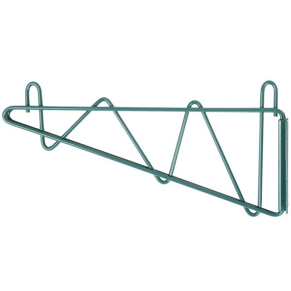 "Regency 14"" Deep Wall Mounting Bracket for Green Epoxy Wire Shelving - 2/Set Main Image 1"