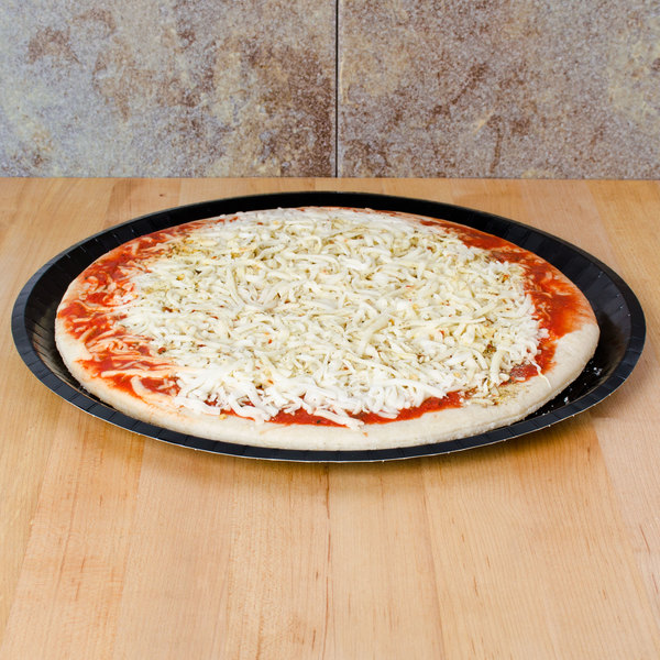"Solut 74553 13"" Take and Bake Coated Paperboard Black Oven Safe Pizza Tray - 150/Case Main Image 3"