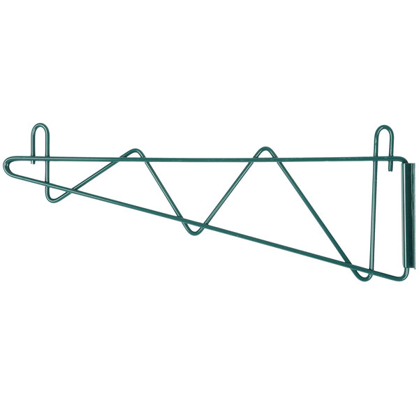 Regency 18 inch Deep Wall Mounting Bracket Set for Green Epoxy Wire Shelving - 2/Pack