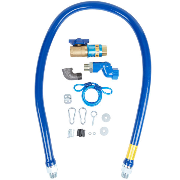 """Dormont 1675KITCFS60 Deluxe Safety Quik® 60"""" Gas Connector Kit with Swivel MAX®, Elbow, and Restraining Cable - 3/4"""" Diameter Main Image 1"""