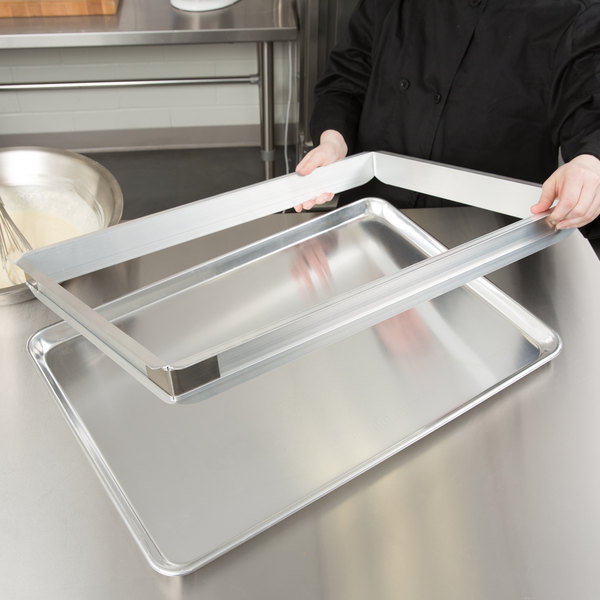 """Baker's Mark 2"""" High Full-Size Aluminum Sheet Pan Extender Main Image 3"""