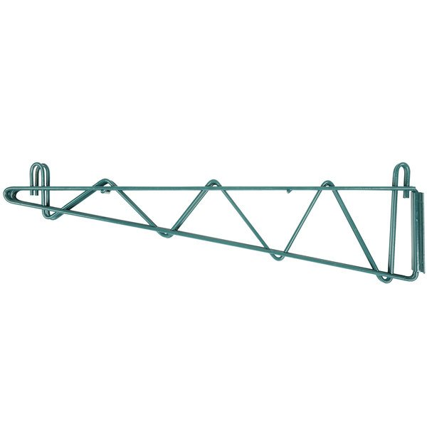 "Regency 24"" Deep Double Wall Mounting Bracket for Adjoining Green Epoxy Wire Shelving Main Image 1"